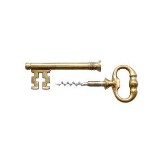 Italian Skeleton Key Bottle Opener & Corkscrew For Sale