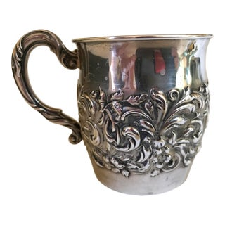 Sterling Embossed Detail Cup