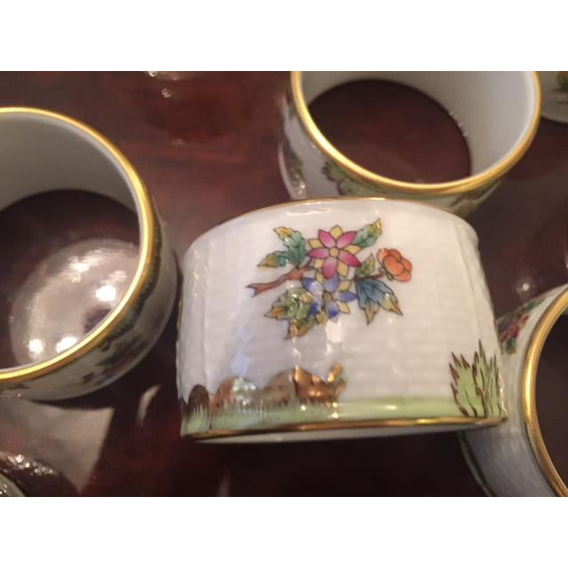 Herend Late 20th Century Herend China Queen Victoria Napkin Rings - Set of 8 For Sale - Image 4 of 9
