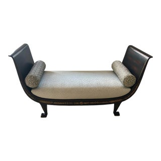 Early 20th Century Swedish Empire Bench For Sale