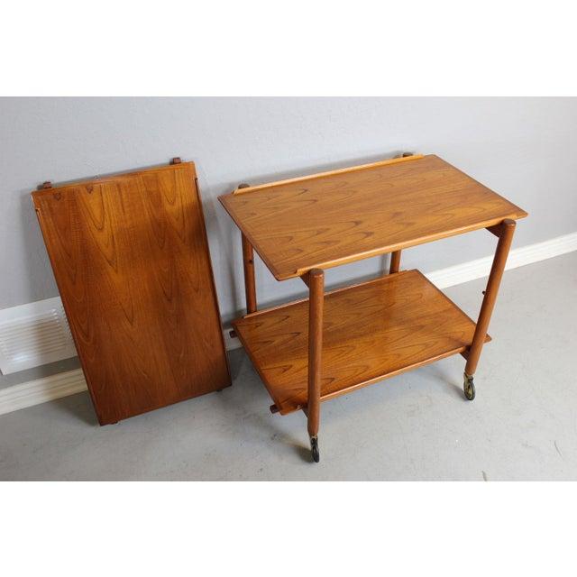 Poul Hundevad Serving and Bar Cart in Teak - Image 8 of 8