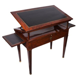 19th Century French Empire Mahogany Architect's Desk For Sale