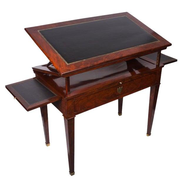19th Century French Empire Mahogany Architect's Desk For Sale