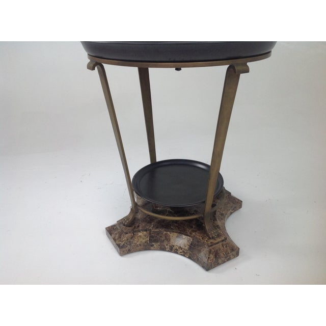 Claw Foot Travertine & Iron Foyer Table For Sale In San Diego - Image 6 of 7