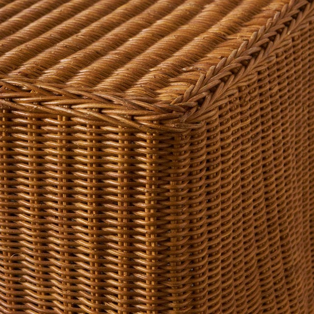 Mid 20th Century Trompe l'Oleil Wicker Draped Console Table For Sale - Image 5 of 8