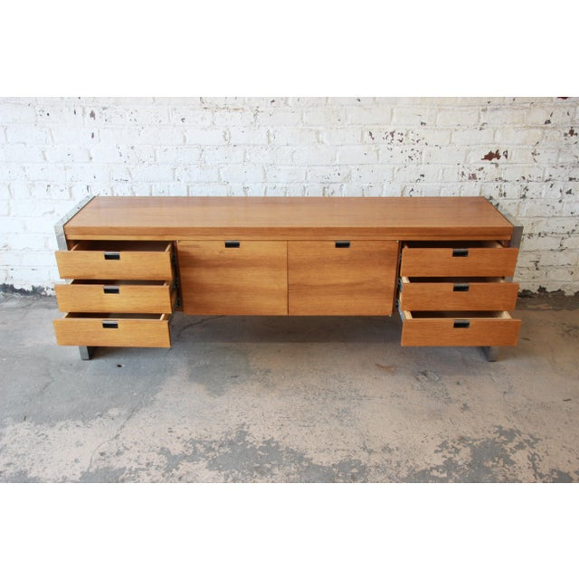 Roger Sprunger for Dunbar Mahogany and Chrome Executive Credenza For Sale In South Bend - Image 6 of 11