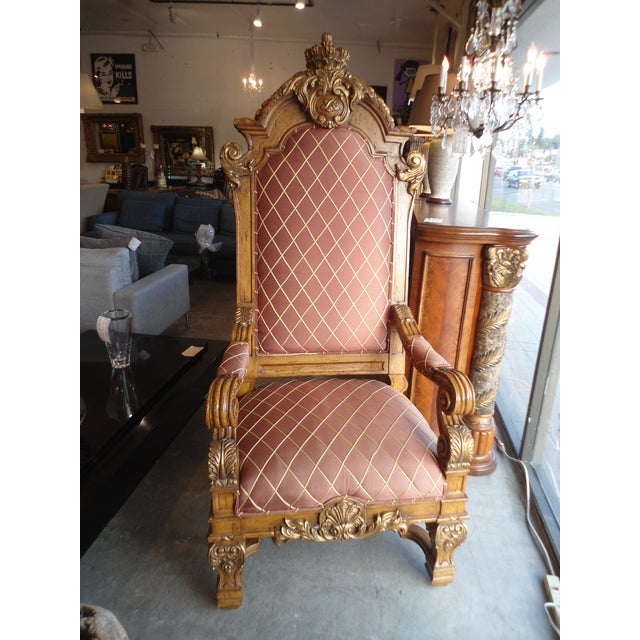 Wooden Throne Arm Chair - Image 2 of 7