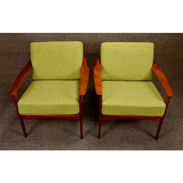 Mid-Century Modern 1960s Mid Century Modern Teak Lounge Chairs - a Pair For Sale - Image 3 of 11