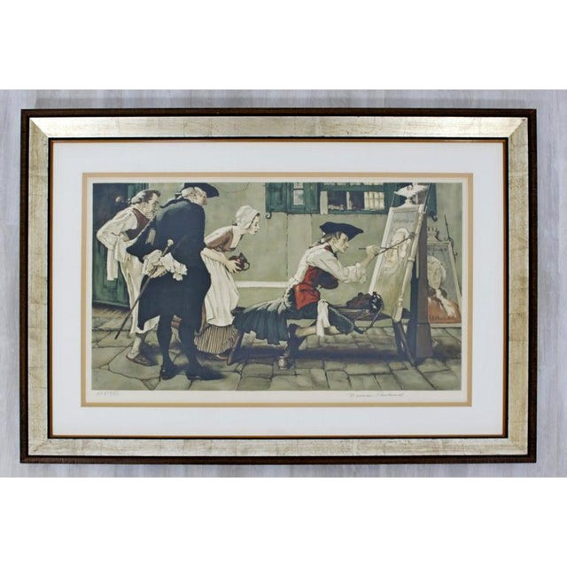 Gothic 20th Century Framed Modern Illustration A.P. Litho Signed Norman Rockwell, 1936 For Sale - Image 3 of 11
