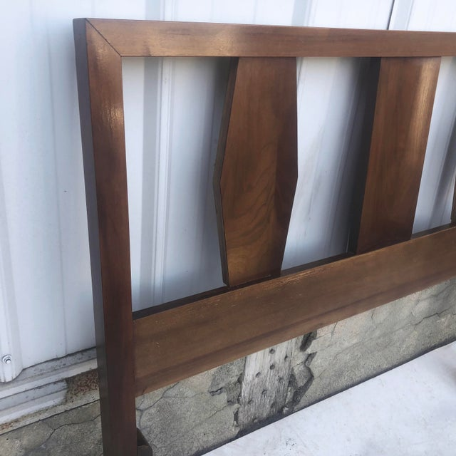 Mid-Century Twin Size Headboard For Sale - Image 4 of 13