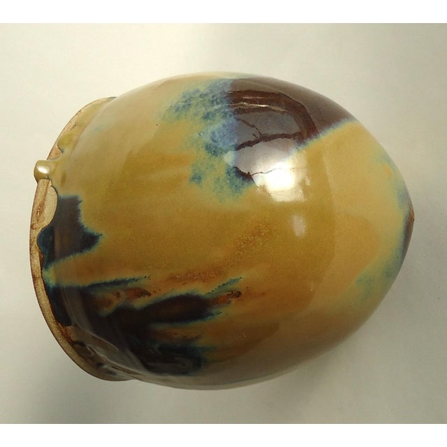 Brent Litsey Raku Cloche Form Stoneware Vessel | Chairish