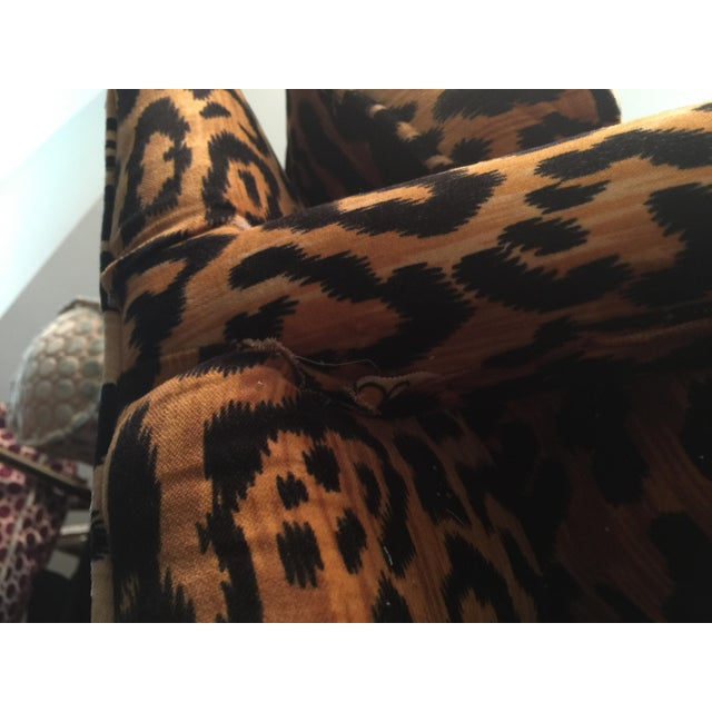 Mid-Century Leopard Baughman Style Parsons Chair For Sale - Image 10 of 10