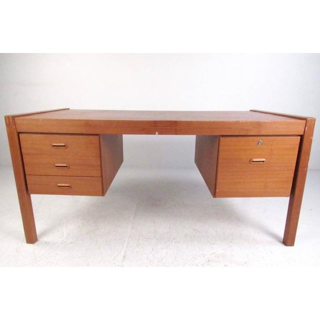 Scandinavian Modern Teak Desk For Sale - Image 11 of 11