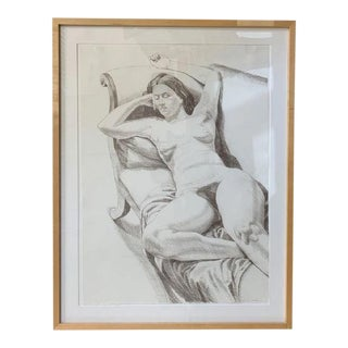 1990s Philip Pearlstein Signed & Framed Lithographic Print For Sale