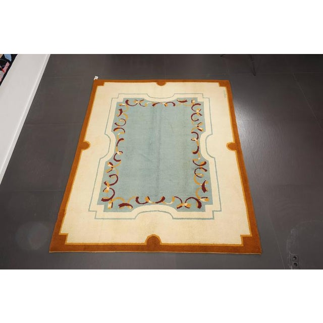 Art Deco Art Deco Style Wool Rug Designed by Robert Debieve, Circa 1950 For Sale - Image 3 of 4