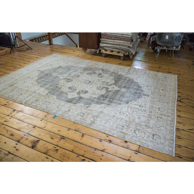 "Distressed Scalloped Oushak Carpet - 6'10"" x 10'3"" - Image 4 of 5"