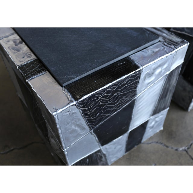 "Paul Evans ""Argente"" Cube Side Tables For Sale In Los Angeles - Image 6 of 13"
