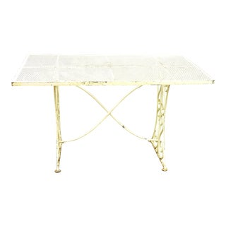 French Iron Garden Table