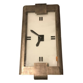 Antique Art Deco Wall Clock With Backlit Face For Sale