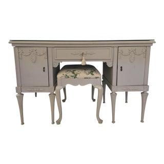 Swedish Vanity & Chair - a Pair