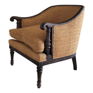 1960s Art Nouveau Shadell & Bachman Tweed Chair For Sale