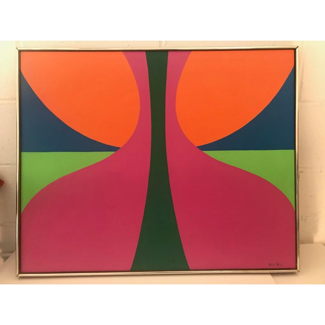 1960s Abstract Colorfield Painting For Sale - Image 4 of 6