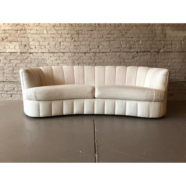 Textile 1980s Curved Weiman Sofas Styled After Vladimir Kagan - a Pair For Sale - Image 7 of 7