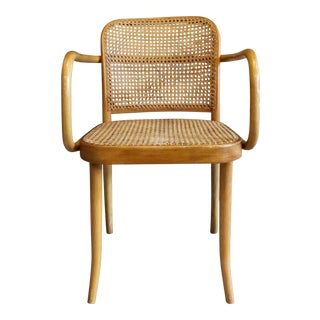 1960s Vintage Josef Hoffman for Stendig Bentwood Cane Prague Chair For Sale