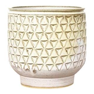 1960s Danish Modern Christian Boehr Ceramic Stoneware Planter For Sale