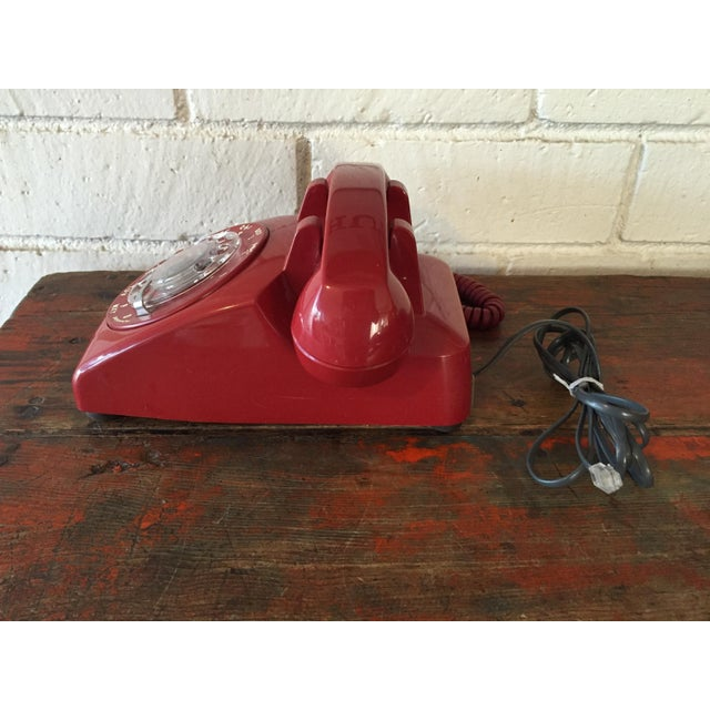 Vintage Red Rotary Telephone - Image 4 of 11
