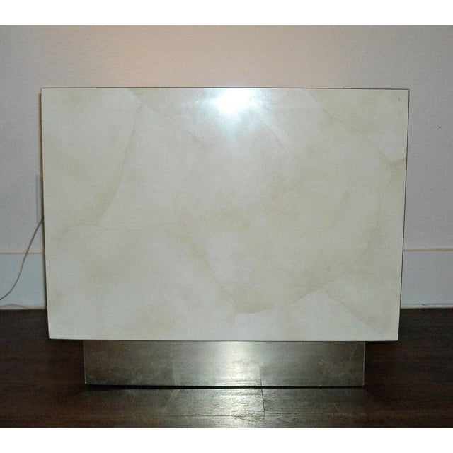 Mid Century Cube End Table Baughman Style - Pair - Image 4 of 4