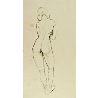 Studio Figure Study of Woman Drawing For Sale