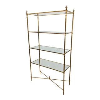 Gold Leaf Etagere Shelf For Sale