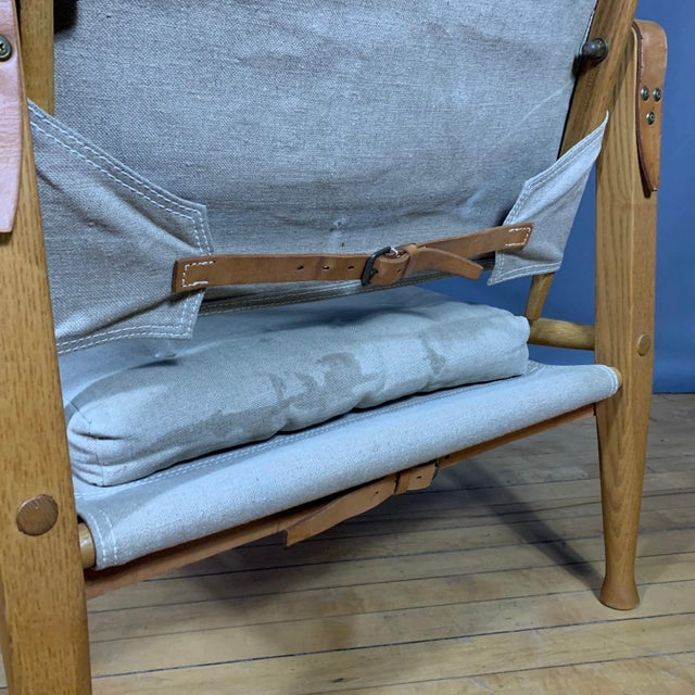 Canvas Kaare Klint Safari Chair, Rud Rasmussen, Denmark For Sale - Image 7 of 11