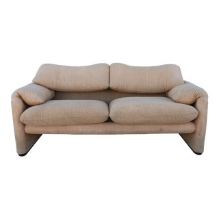 "Vintage Cassina ""Maralunga"" Love Seat For Sale"