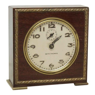 Small Wooden Seth Thomas Table Top Clock For Sale
