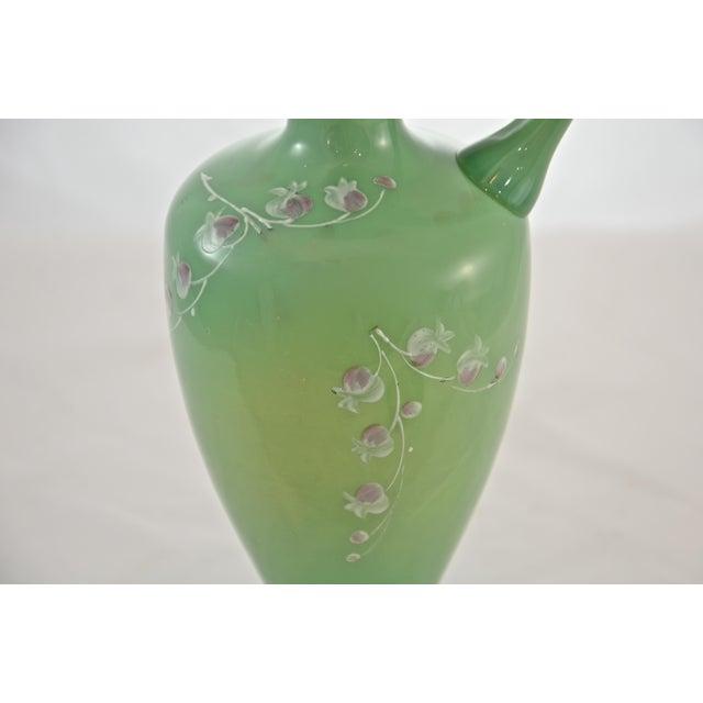 Bristol Porcelain 19th Century Green Jadeite Glass Vase For Sale - Image 4 of 8