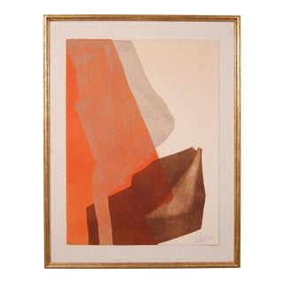 Abstract Expressionist Etching by French Artist Gilou Brillant For Sale