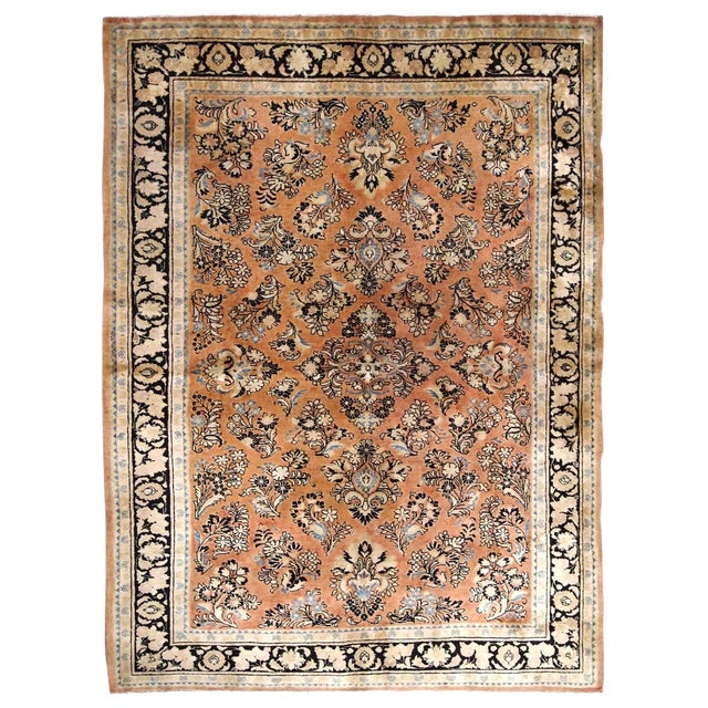1920s, Handmade Antique Persian Sarouk Rug 5.2' X 8.3' - 1b704 For Sale