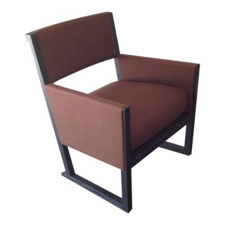 Contemporary B & B Italia Oak Occasional Chairs - a Pair