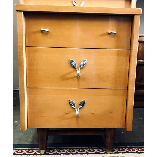 Mid-Century Modern Huntley Blonde Nightstand For Sale - Image 10 of 10