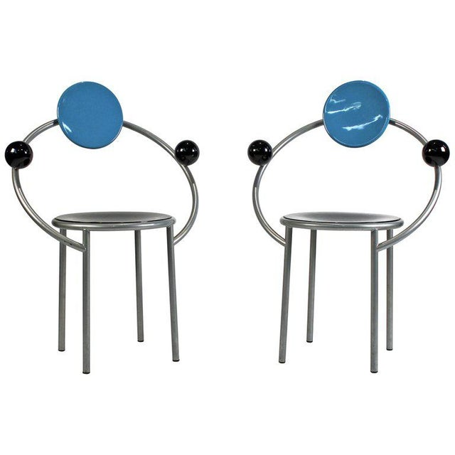 1980s 'First Chairs' by Memphis Milano Designer Michele De Lucchi - A Pair For Sale - Image 9 of 9