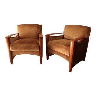 Nemschoff Club Chairs - a Pair For Sale