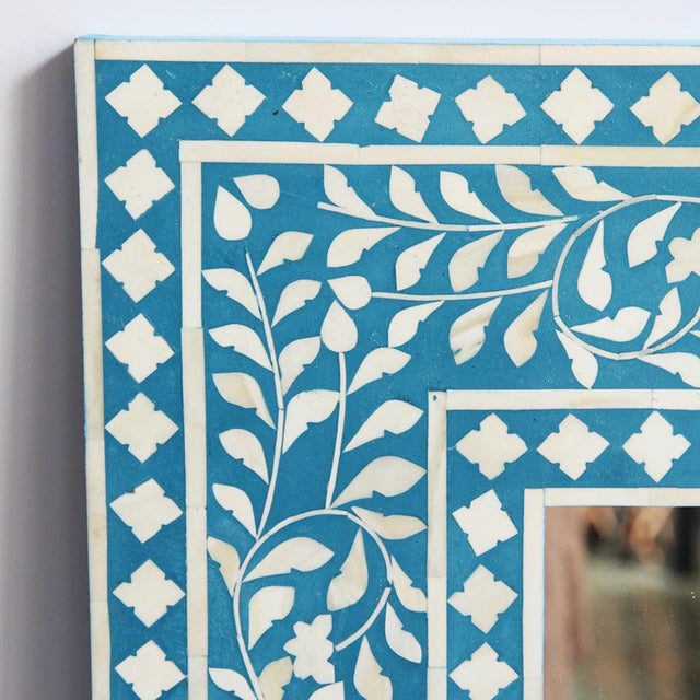 Inlay Blue Mirror Frame - Image 2 of 3