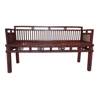 1920s Red Chinese Bench For Sale