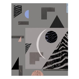 Modern Abstract Geometric Art Deco Limited Edition Print With Grey, Pink, and Blue by Molly Frances For Sale