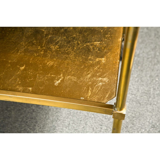 1960s French Art Deco Gilt Brass Tea Cart For Sale - Image 5 of 6