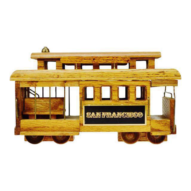 San Francisco Wooden Cable Car Music Box