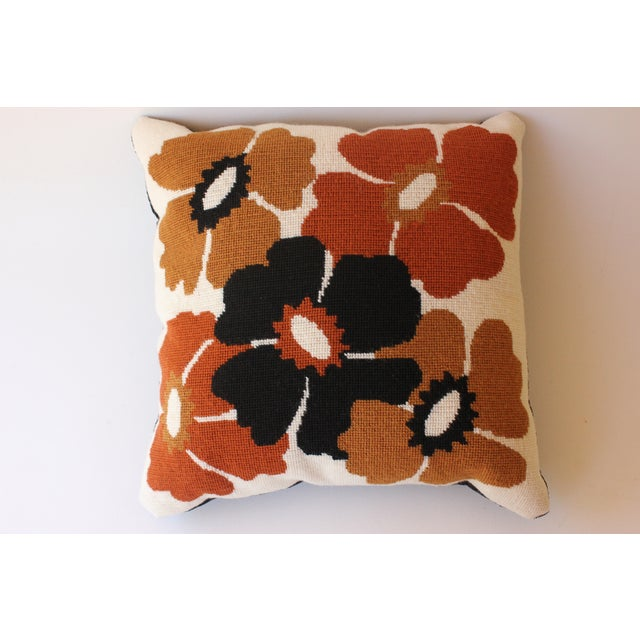 Mod Poppy Needlepoint Pillow - Image 2 of 6