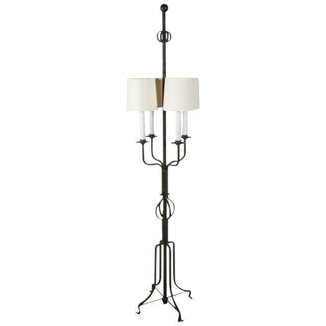 1950s Tommi Parzinger Iron Floor Lamp For Sale
